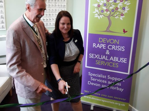 Devon and Cornwall Police and Crime Commissioner and Exeter Mayor opening the new DRCSAS Exeter third floor support rooms