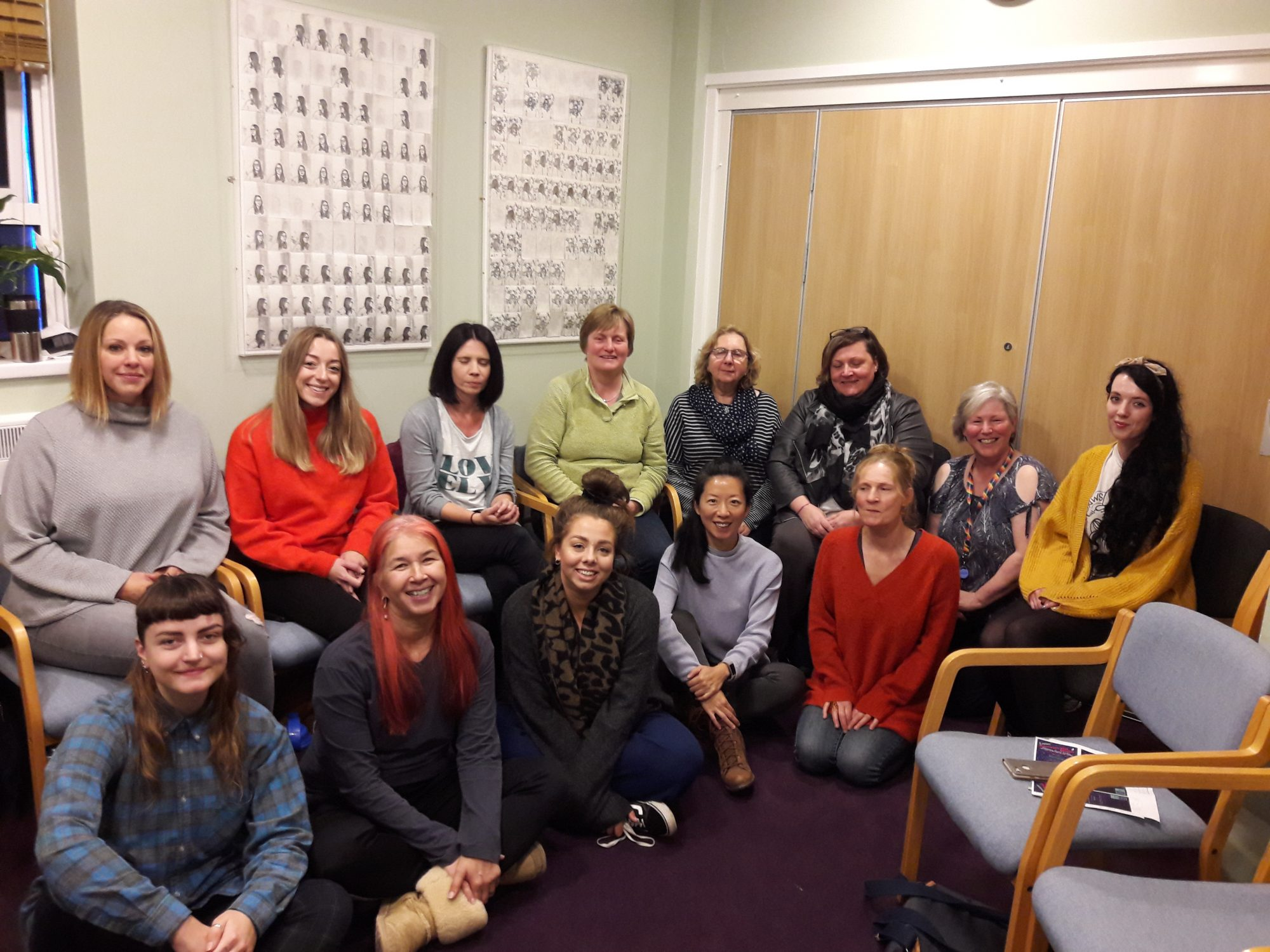 Volunteer group - smiling group of women